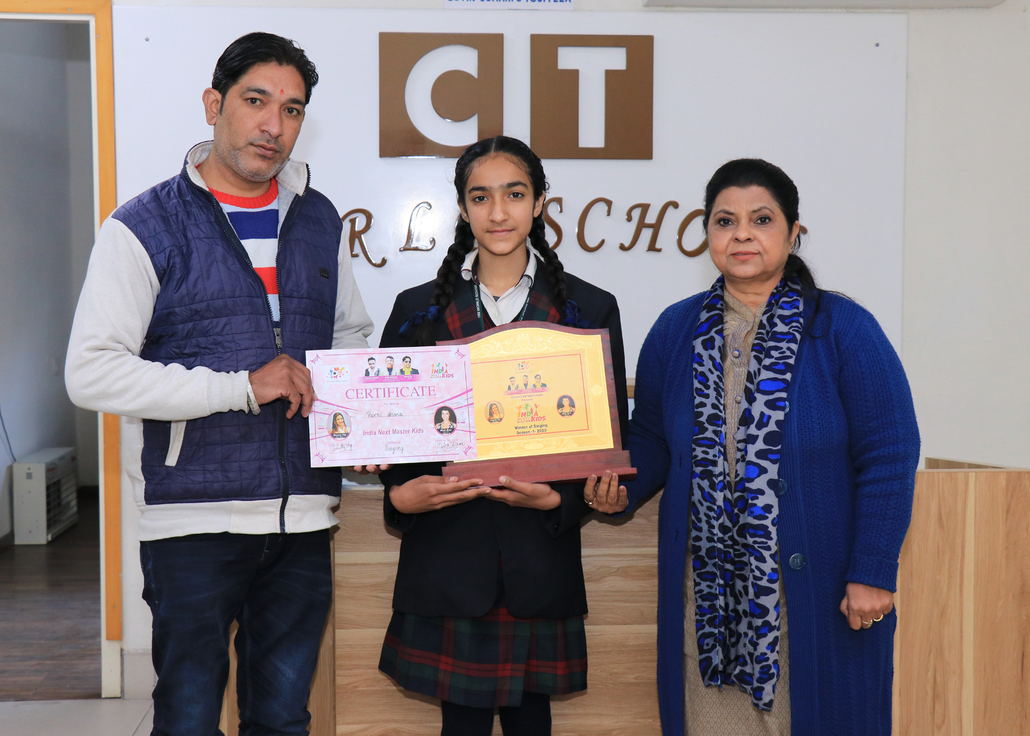 CT World's Pavni Arora bags the title of India's Next Master Kids Show